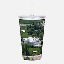 White House Aerial Pho Acrylic Double-wall Tumbler