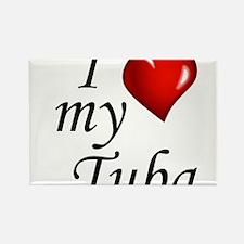 I Love My Tuba Magnets