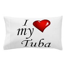 I Love My Tuba Pillow Case