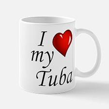 I Love My Tuba Mugs
