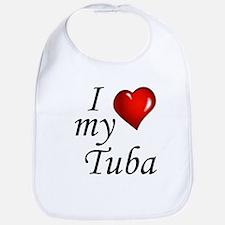 I Love My Tuba Bib