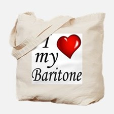 I Love My Baritone Tote Bag