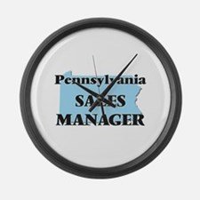 Pennsylvania Sales Manager Large Wall Clock