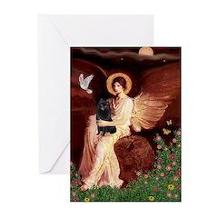 Angel (#1) & Schipperke Greeting Cards (Pk of 20)
