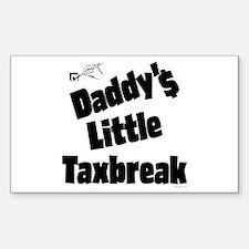 Daddy's Little Taxbreak Rectangle Decal