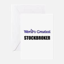 Worlds Greatest STOCKBROKER Greeting Cards (Pk of