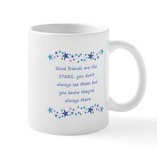 Good Friends are like Stars Inspirational Quote Mu