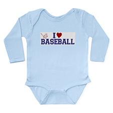 Unique Cooperstown baseball Long Sleeve Infant Bodysuit