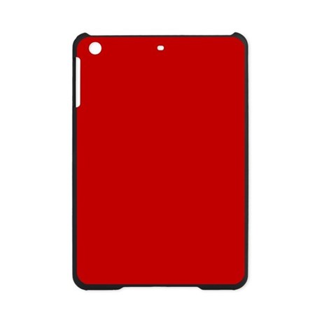 JUST COLORS: RED iPad Mini Case by JUSTCOLORS
