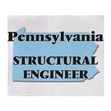 Pennsylvania Structural Engineer Throw Blanket
