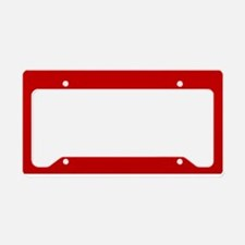 JUST COLORS: RED License Plate Holder