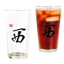 Nah Jong West Wind Drinking Glass