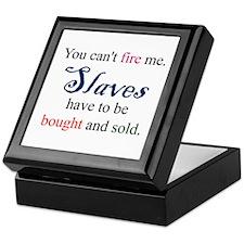 Slaves Bought & Sold Keepsake Box
