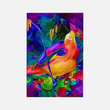 Paradise Bird Vibrant Art Rectangle Magnet