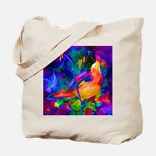Paradise Bird Vibrant Art Tote Bag