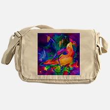 Paradise Bird Vibrant Art Messenger Bag