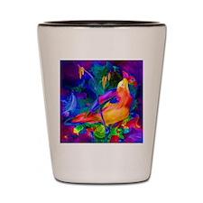 Paradise Bird Vibrant Art Shot Glass