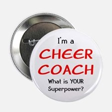 """cheer coach 2.25"""" Button"""