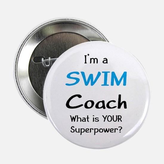 """swim coach 2.25"""" Button"""