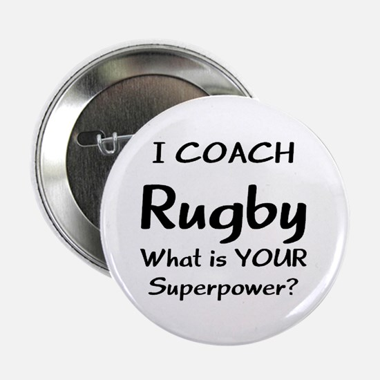"""rugby coach 2.25"""" Button"""