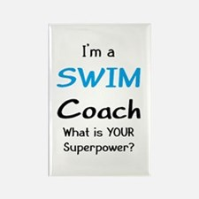 swim coach Rectangle Magnet