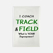 track & field Rectangle Magnet