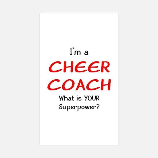 cheer coach Sticker (Rectangle)