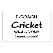 cricket coach Decal
