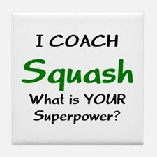 coach squash Tile Coaster