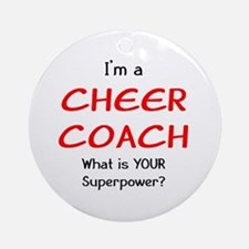 cheer coach Round Ornament