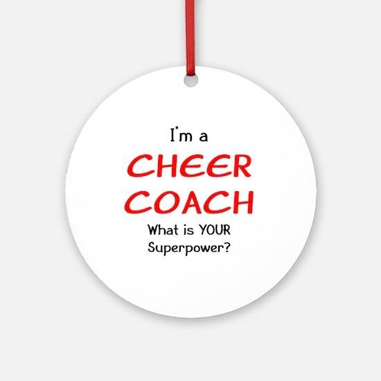 cheer coach Round Ornament