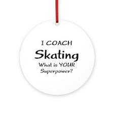 skating coach Round Ornament