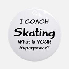 skating coach Round Ornament