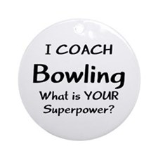 coach bowling Round Ornament
