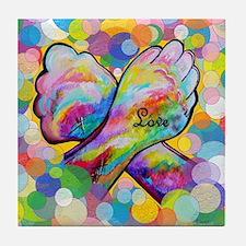 Cool Deaf art Tile Coaster