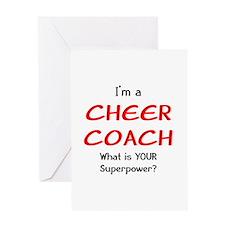 cheer coach Greeting Card