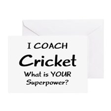 cricket coach Greeting Card