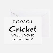 cricket coach Greeting Card