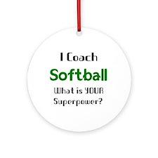 coach softball Round Ornament