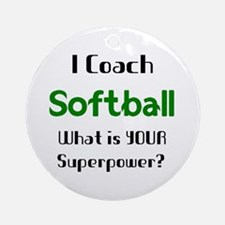 coach softball Round Ornament