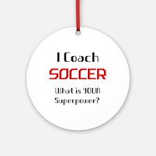 coach soccer Round Ornament
