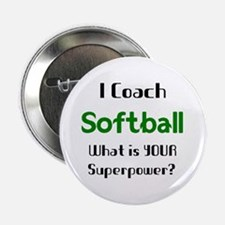 """coach softball 2.25"""" Button"""