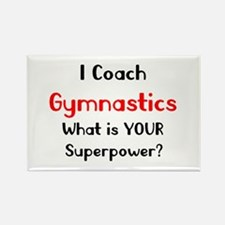 coach gymnastics Rectangle Magnet