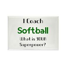coach softball Rectangle Magnet