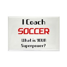 coach soccer Rectangle Magnet