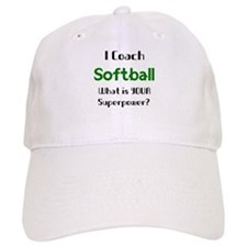 coach softball Baseball Cap