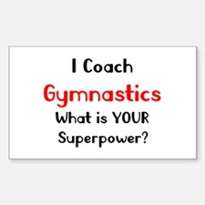 coach gymnastics Sticker (Rectangle)