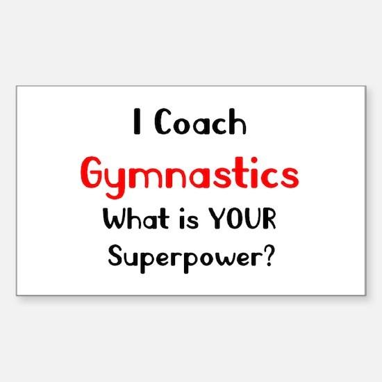 coach gymnastics Sticker (Rectangle)