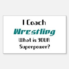 coach wrestling Decal
