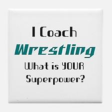 coach wrestling Tile Coaster